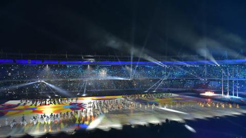 Uno de los actos del show central de inauguración de los Juegos Deportivos Centroamericanos y del Caribe Barranquilla 2018.