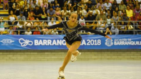 Johanna Apolinar realizó una rutina perfecta que le bastó para llevarse el oro.