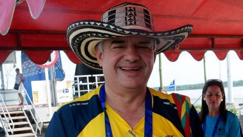 Ciro Solano, vicepresidente del Comité Olímpico Colombiano.