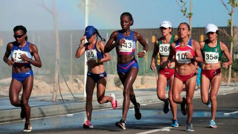 Atletas durante la competencia.