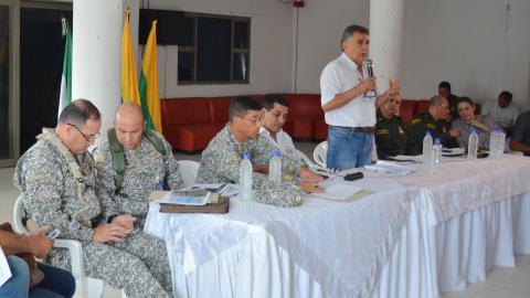 Vista del consejo de seguridad realizado en el municipio de San Onofre, el pasado martes.