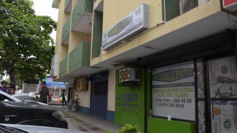 Sitio donde ocurrió el asalto en la mañana de ayer.