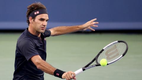 El suizo Roger Federer en el juego ante David Goffin.