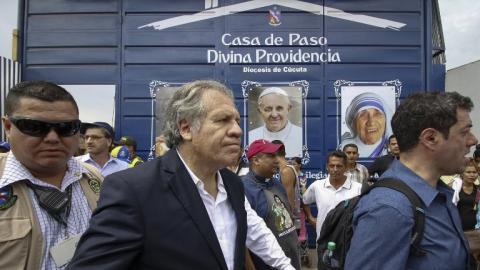 Almagro en su recorrido en la zona de frontera Colombia-Venezuela.