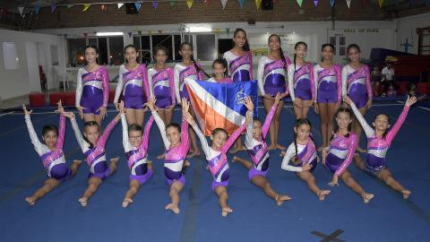 Las integrantes del Club Gymnastics Gold que participarán en el nacional.