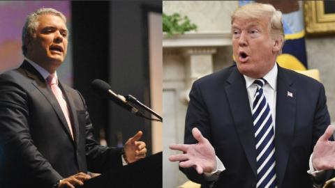 Iván Duque y Donald Trump.