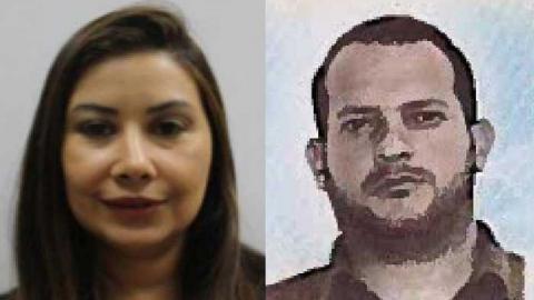 Claudia Díaz y su esposo Adrián Velásquez Figueroa.
