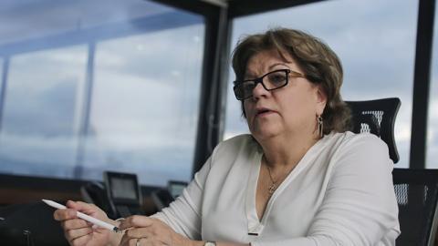 La ministra de justicia, Gloria María Borrero.