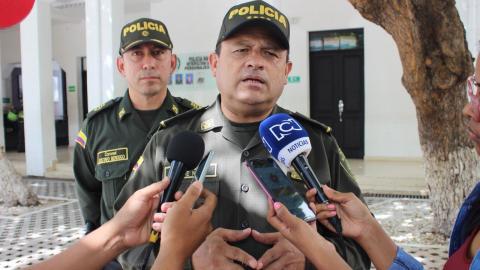 El director de la Policía Nacional, Jorge Nieto, en rueda de prensa ayer en Santa Marta.