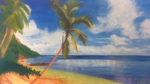 Una de las obras que será exhibida en la muestra artística.
