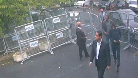 Maher Mutreb, jefe de seguridad del príncipe Salman, quedó registrado en las cámaras del consulado saudí.