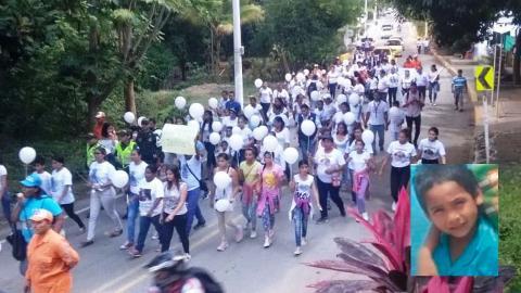 Una marcha para pedir la libertad de Albertico se realizó el pasado martes.