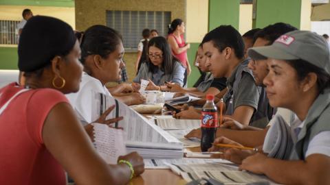 En Don Bosco está uno de los puntos habilitados para el censo en Rebolo.