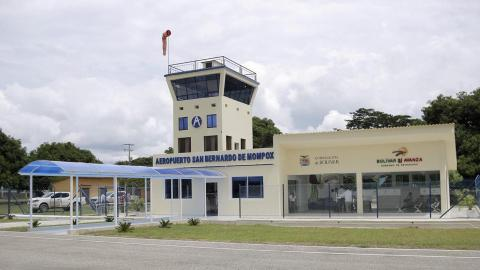 Vista del aeropuerto San Bernardo, de Mompox.