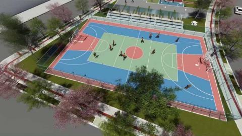 Rénder del nuevo complejo deportivo Villa Tívoli.