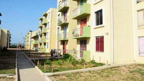 Vista de una de las áreas del conjunto de apartamentos en el proyecto Villas de San Pablo.