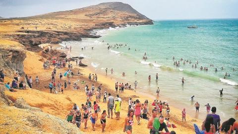 El Cabo de la Vela es uno de los mayores atractivos turísticos que tiene el departamento de La Guajira.