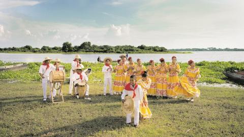 El Grupo de Tambora de Chimichagua en una muestra de la cultura cesarense.