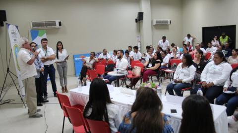 El alcalde de Soledad, Joao Herrera, durante el Segundo Foro Ambiental Empresarial.