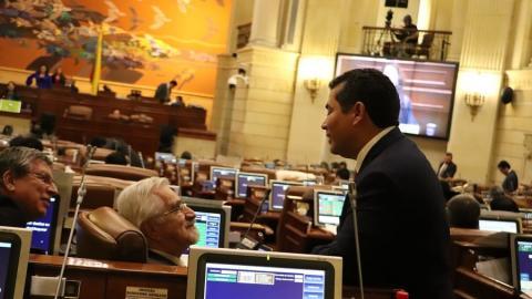 Sesión de la Cámara de Representantes.