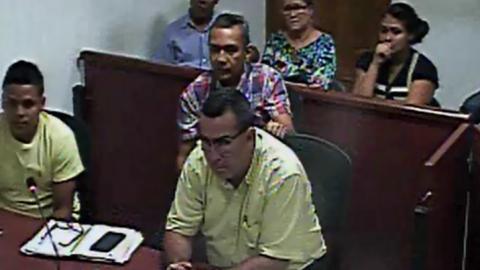 Audiencias de legalización de captura de Danilo González Guerrero.