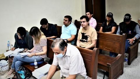 Aspecto de las audiencias contra Vargas Lamadrid y los nueve procesados.