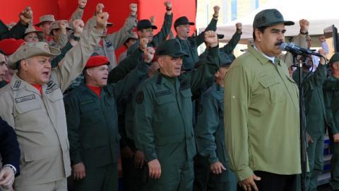 Maduro en el Fuerte Tiuna.