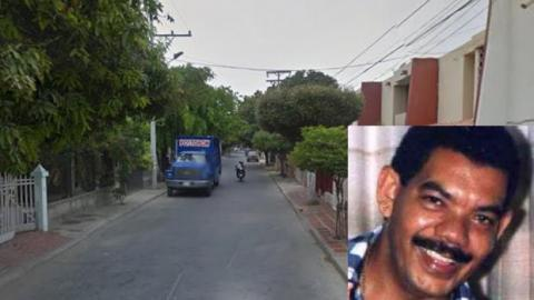 En la carrera 18 con calle 25A-14 del barrio Santa Elena de Santa Marta fue asesinado el juez Cotes Laurens.