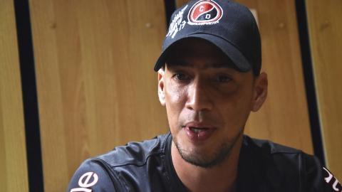 Braynner García con el uniforme del Cúcuta Deportivo.
