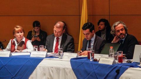 Alicia Arango, Carlos Baena, Luis Alberto Rodríguez y Juan Daniel Oviedo.