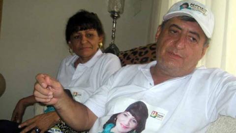 Jorge Oñate y su esposa Nancy Zuleta en la época de la candidatura en LaPaz