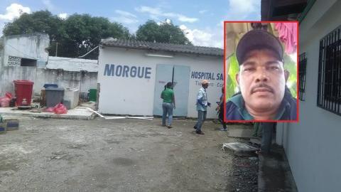 El cuerpo de Luis Rodriguez fue ingresado a la morgue de Tierralta.