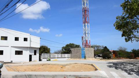 En el lugar donde estaba el CAI, en el barrio Soledad 2000, ahora hay una antena.