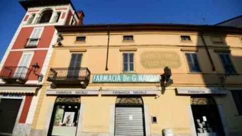 Una farmacia cerrada en Codogno, en el norte de Italia