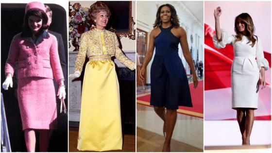 Jackie Kennedy, Pat Nixon, Michelle Obama y Melania Trump.