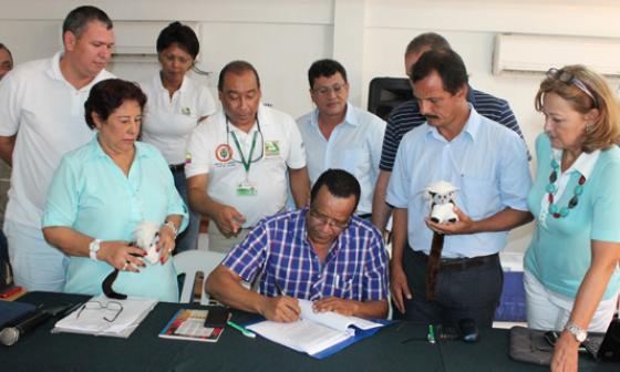 En Santa Catalina, Bolívar, se firmó la declaratoria.