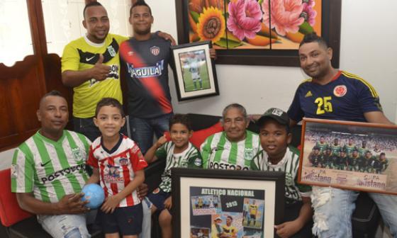 La familia de Alexánder Mejía: de nuevo en una final contra Junior