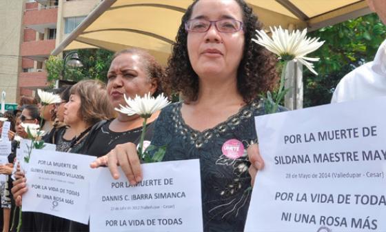 """""""Ni una Rosa más, ni una Sildana más"""" en Colombia"""