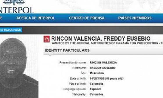 Interpol ordena la captura de Freddy Rincón por lavado de activos