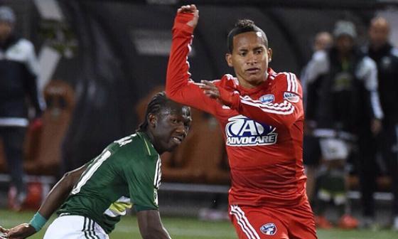 Michael Barrios enfrentó hace poco a su compatriota Diego Chará, mediocampista que juega en el Seattle Sounders.