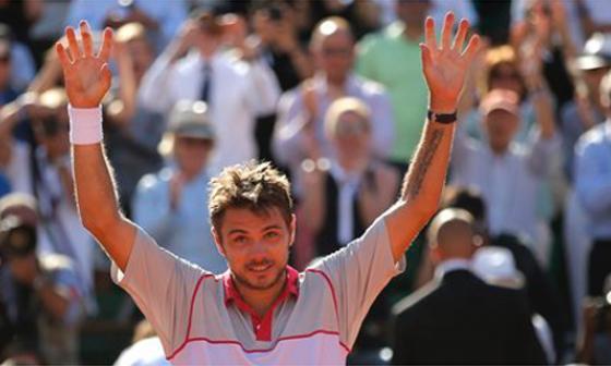 Wawrinka le dio la sorpresa a Novak Djokovic