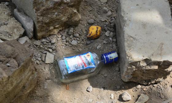 Por esta botella de ron se inició la riña que acabó con la vida de Walter Pino.
