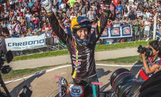 ¡Mariana Pajón, campeona del mundo en bicicrós!