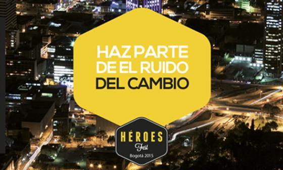 """La agenda incluye actividades como la segunda edición del """"Héroes Fest"""". En la imagen el afiche promocional de """"Héroes Fest""""."""