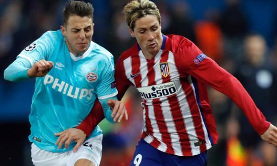 Atlético de Madrid sufre para eliminar al PSV de Santiago Arias en la Champions League