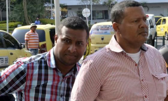 De izquierda a derecha: José Fernel Mendoza Trujillo y exalcalde Jorge Luis Batista.