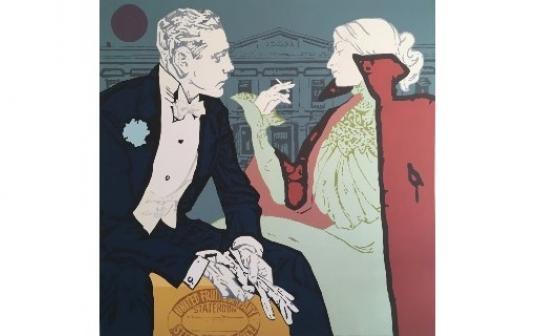 Una de las obras del artista Rafael Barón que estará expuesta desde mañana en la Pinacoteca de la Aduana