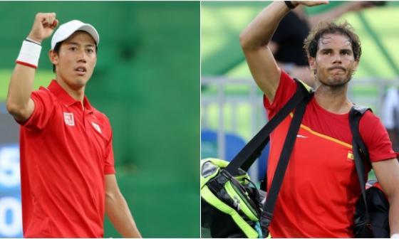 Nishikori gana el bronce y deja a Nadal fuera del podio