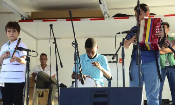 Durante el Festival Cuna de Acordeones.