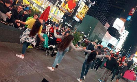 Barranquillera que bailó en el Times Square cumplió un sueño de vida